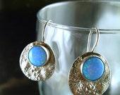 Opal Texture Silver Earrings - ElenadE