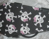 Girly Heart Skull Coffin