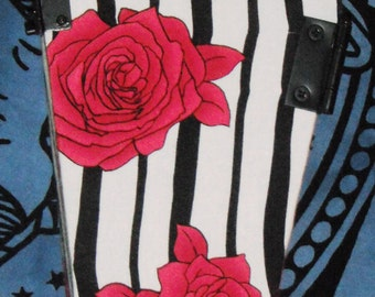 Black and White and Rose all Over Coffin Purse