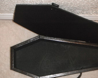 Black Wooden Coffin Case