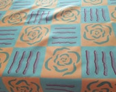Modern and Bright Table Cloth and Five Napkins, Designer Fabric, Ucycled