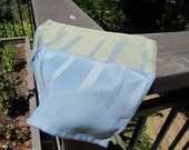 NAP1596 Blue and Green Striped Cloth Napkins, Set of 6