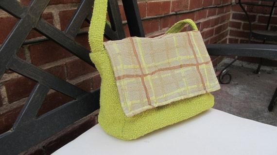 Upscale, Vintage Fabric, Upholstery Purse With Designer Fabric Flap
