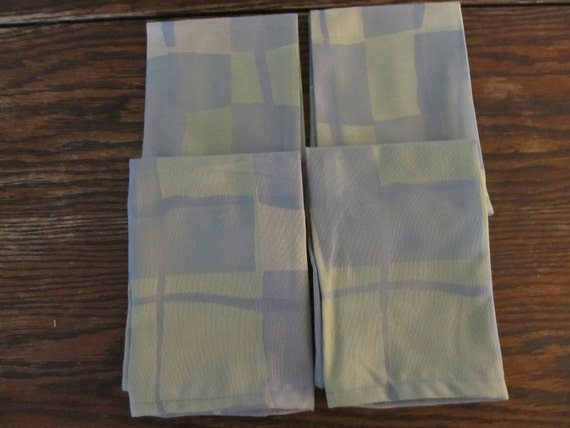 Napkins NAP13141 Four Green, Lavender and Blue Cotton Napkins, Napkin Set, Table, Kitchen and Dining, Dining Room, Entertain, Up Cycled