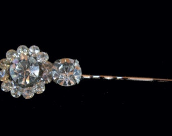 Crystal Circular UpCycle Bobby Pin Rhinestone