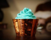 Wood Paneling Cupcake Wrappers
