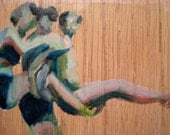 Holding On an Original Oil Painting on Reclaimed Wood