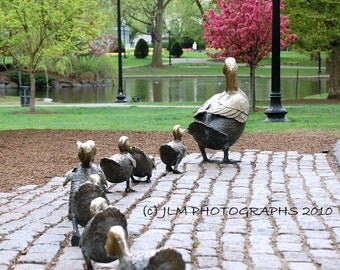 Boston Art, Make Way for Ducklings, Boston Photography, Home Decor, Nursery Decor, Childs Room, Wall Art Prints, Boston Prints, Bedroom Art