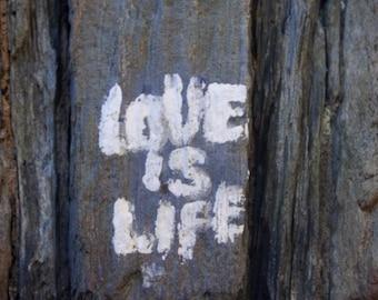 Photography - Love is Life  - Love Photograph - Grafitti Photography - Fine Art Photography