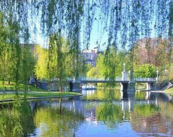 Boston Landmark, Public Gardens, Boston Photography, Home Decor, 11x14 Photos, Bedroom Guest Room Decor, Boston Art, Boston in the Spring,