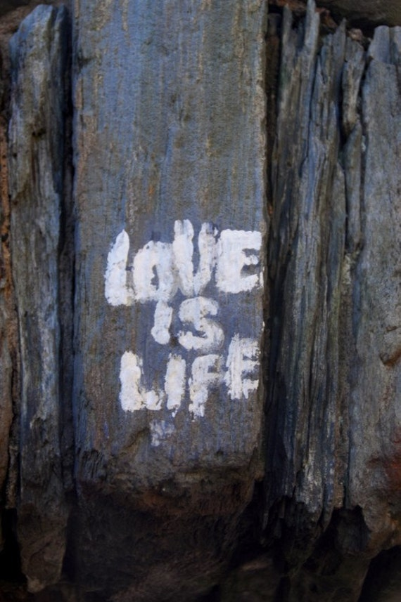 Graffiti Photography, Street Photography, Love is Life, Love Print, Fine Art Photography, Home Wall Decor, Large Office Wall Art