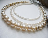 3-Strand Ivory Pearl Necklace