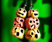 SALE--Stack-O-Lanterns -- Dangle Halloween Hand Sculpted Earrings