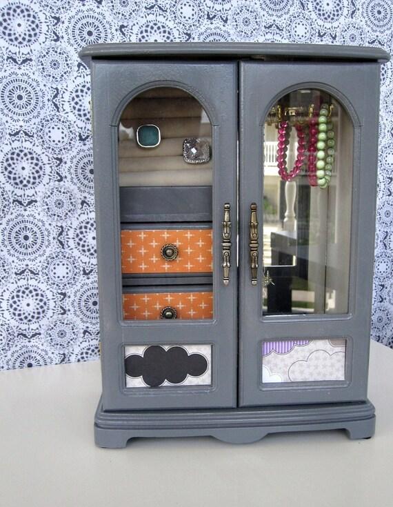Jewelry Box in Grey, Purple and Orange: Mazzie