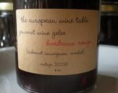 Bordeaux Rouge Gourmet Wine Gelee Vintage 2008