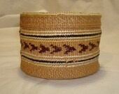 Tlingit Indian Style Spruce Root Rattletop Basket