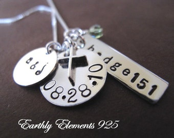 Charm Cluster Necklace  -  Style No. 2 - I give you the blank canvas to personalize anyway you want
