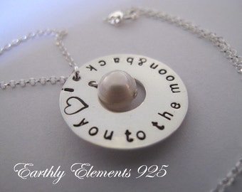 I Love you to the Moon and Back Necklace   No. 2
