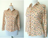Vintage 70s woodland shirt mini autumn leaves (small)