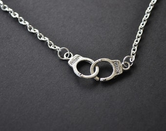 Handcuffs Necklace, Breaking Free, Freedom