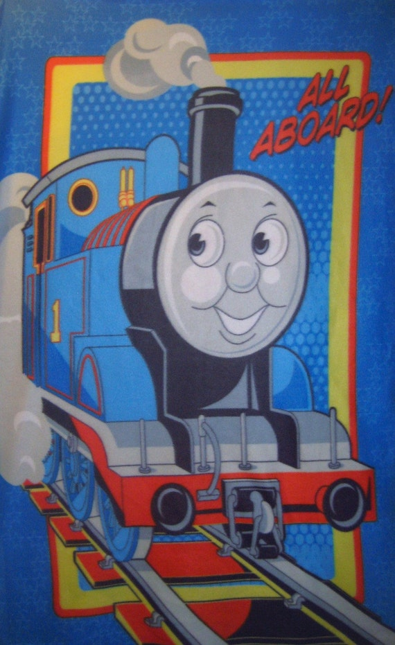 Thomas The Train Tank Engine Fleece Throw Blanket Soft Warm Wall Hanging