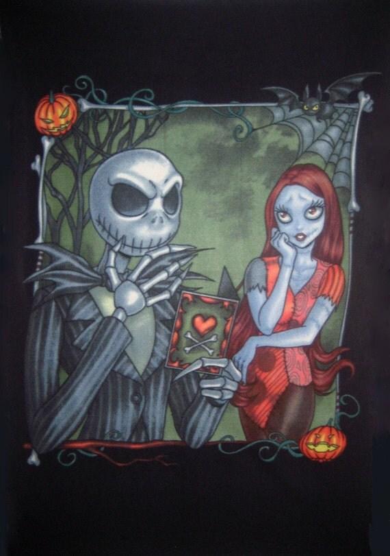 Nightmare Before Christmas Tim Burton Jack Skeleton & Sally
