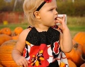 FREE SHIPPING ......Pumpkin Patch Princess...PIllowcase Dress...NB - 24mo.....(2T - 5T  available in our shop)