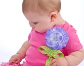 Girls Pink Onesie....Baby bodysuit....interchangeable flower....Sz. NB - 18mo ...In stock ready to ship
