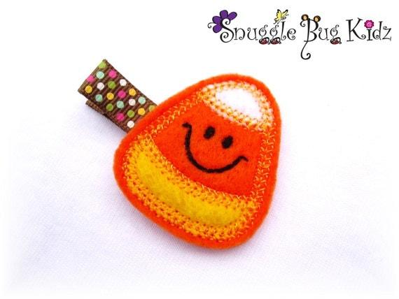 Candy Corn Fall hair clip