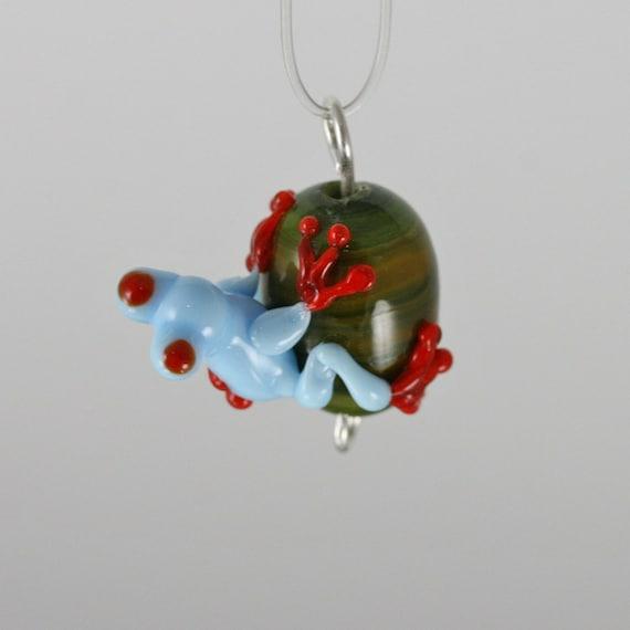 Baxter - Lampwork Frog Pendant