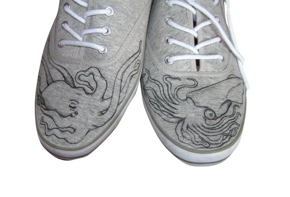 Octopus V giant squid shoes