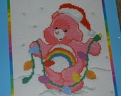 Care Bear Cheer Bear With Tree Lights Cross Stitch Kit No 39056