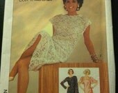 Ali McGraw Lace Dress With Slip Simplicity Sewing Pattern 6837 Size 16