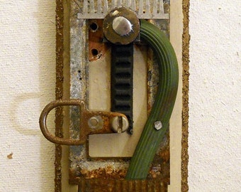 Totem II: found object assemblage