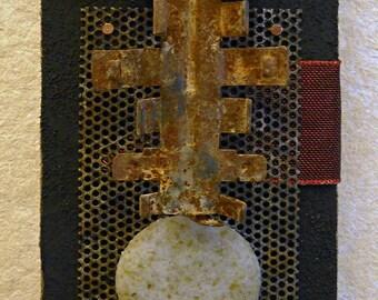 Talisman I: found object assemblage