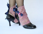 Pink, Navy & Gold Spats - Glamccessories