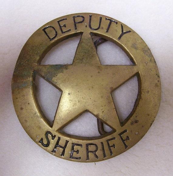 Deputy Sheriff Belt Buckle-Brass