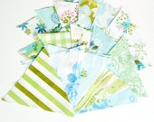 DIY Bunting Kit - Blue and Green Vintage Fabrics
