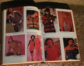 The Woman's Day Book of Knitted Sweaters Copyright 1970s Knitting