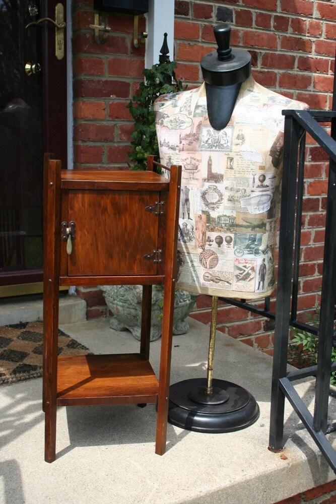 Very Old Beautiful Vintage Smoking Cabinet Or Smoking Stand