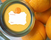Orange Marmalade Canning Jar labels, 2 inch round stickers for mason jars, jam and jelly, fruit preservation, widemouth available