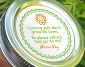 Canning jars don't grow on trees, funny custom round stickers, return jar canning labels, regular or wide mouth mason jar labels