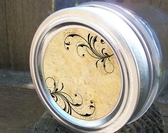 Vintage Whimsical canning jar labels, round stickers for mason jars for fruit vegetable preservation, mason jar labels, jam jelly jar labels