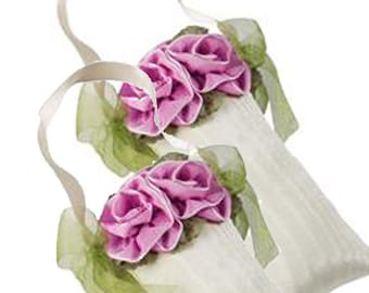 Lavender Hanging Sachets, Homemade with Millinery Roses