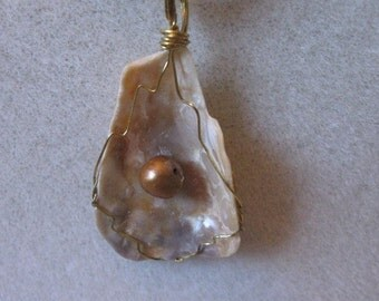 Shell with Pearl Wire wrapped