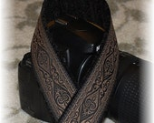 Camera Neck Strap - DSLR & SLR Strap - Comes With Standard and Quick Connect Attachments - Jacquard Trim - Blackfriars