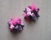 Minnie Mouse Hair Bow, Colorful Hair Ribbon, Custom Baby Hairbow, Ribbon Hair Clip, Baby Hair Bow Clip, Disney Bow