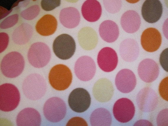 Circles on Pink with Dark Pink Couch Cover - Ready to Ship Now