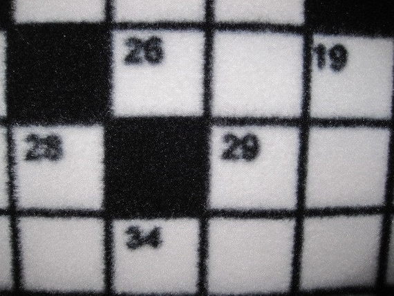 Crossword Puzzle Pattern Handmade Fleece Blanket