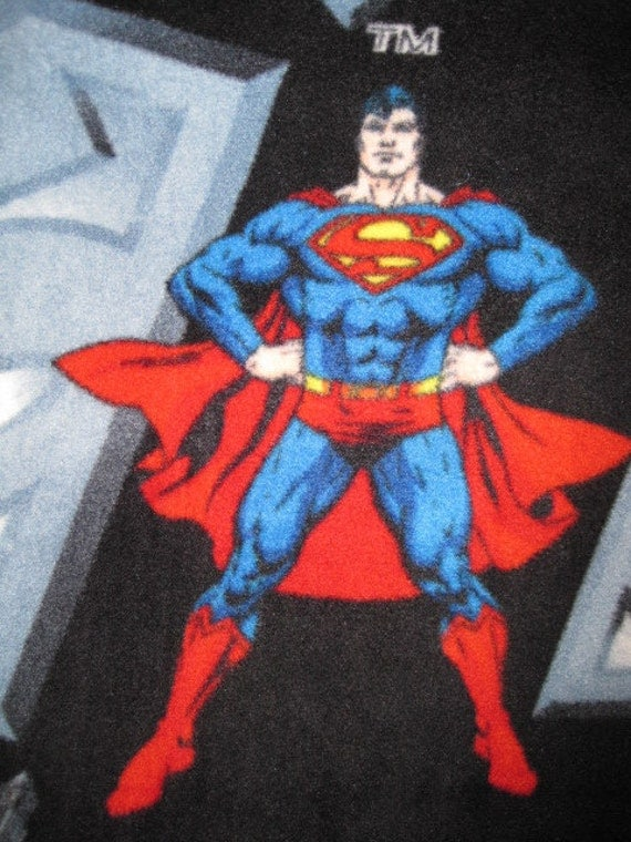 Superman on Black with Red Blanket - Ready to Ship Now